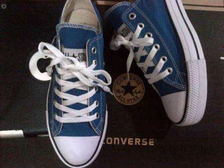 BC0258 Blue Converse All Star Low - Rp. 135000