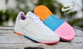 BN0232 Nike Air Force One Rainbow Sole #5 - Rp. 190000